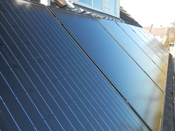 Solar panel installation: Budleigh Salterton, East Devon
