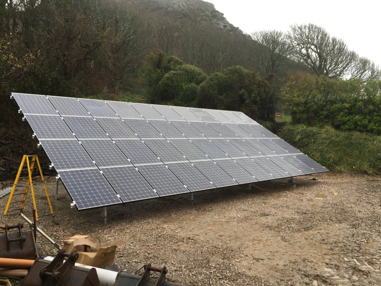 Solar panel installation: East Prawle, South Hams, Devon